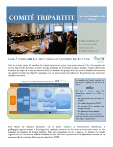 Comité tripartite des 3-4 déc. 2014 - Faits saillants (Version PDF - 283 ko)