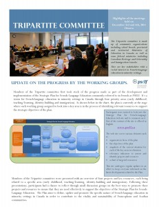 Tripartite Comittee on Dec. 3-4, 2014 - Highlights Comité (PDF - 386 ko)